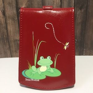 NWT Red Luggage Tag - Cute Frog & Dragonfly